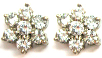 Diamond Earrings 0.80 Ct Total Weight