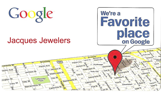 Google Recognition of Jacques Jewelers