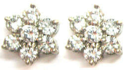 Jacques 18 Kt White Gold Diamond Earrings
