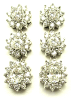 Jacques 18 Kt White Gold Diamond Dangling Earrings