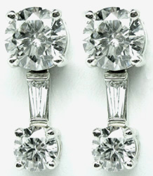Jacques Platinum Diamond Earrings