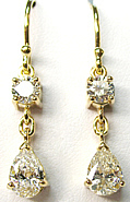Helen Diamond Drop Earrings