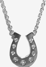 Jacques Platinum Horseshoe with Diamonds