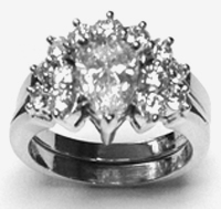 Diamond Ring with Curved Band